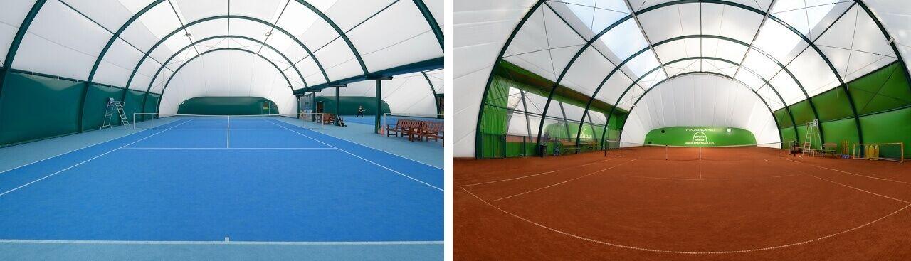 Sport Halls LTD. Oblúkové tenisové haly s rovnými bokmi